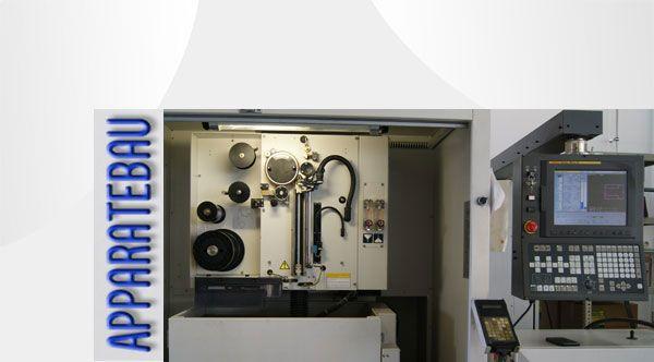 Drahterodieren bzw. Drahtschneiden von kleinsten Figuren oder Wire-o-Werkzeuge nach Maß mit CNC gesteuerten Maschinen von Fanuc bei Apparatebau