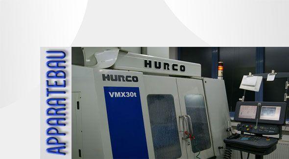 Lohnfräserei mit der Maschine Hurco | CNC Fräsen mit 5-Achsen- und 3-Achsen-Fräsmaschinen bei Apparatebau in Bayern